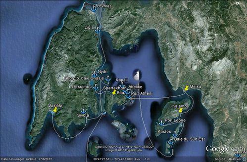 De Levfkas à Kastos