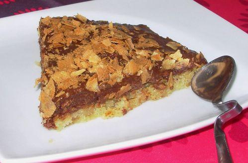 Gâteau au chocolat, caramel & noisettes4