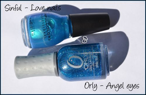 Orly Angel eyes & Sinful love nails