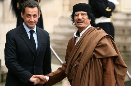 Sarko et Kadhafi