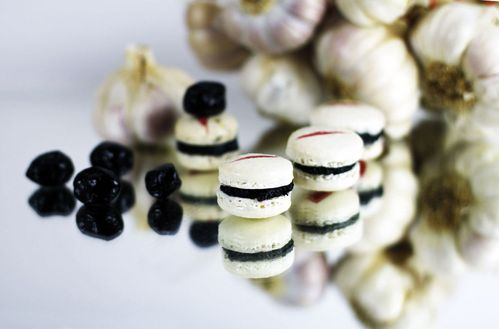 macaron blanc et noir