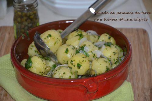 Salade De Pommes De Terre Aux Herbes Et Aux Capres Le Sucre Sale D