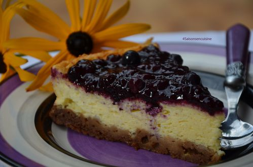 Cheese cake coulis de myrtilles