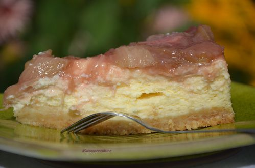 Cheesecake citron rhubarbe 2
