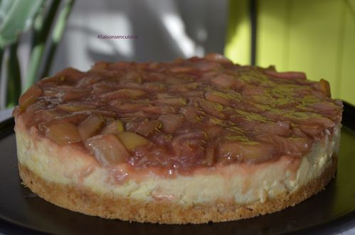 Cheesecake citron rhubarbe 4