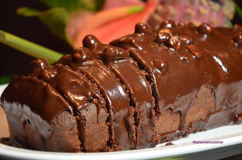 Gateau chocolat glaçage spécial écureuils