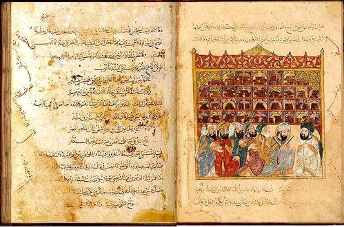 Bibliothèque du VIIIème siècle - le livre des sages -BNF