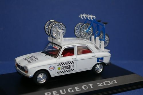 Norev 472412 Peugeot 204 assistance Tour de France 1970