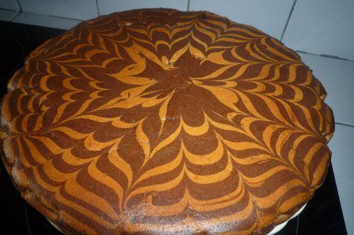 Gateau zebre dans moule a cake