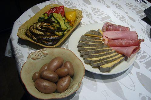 raclette originale avec légumes