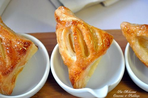 apple turnovers couscous and pudding