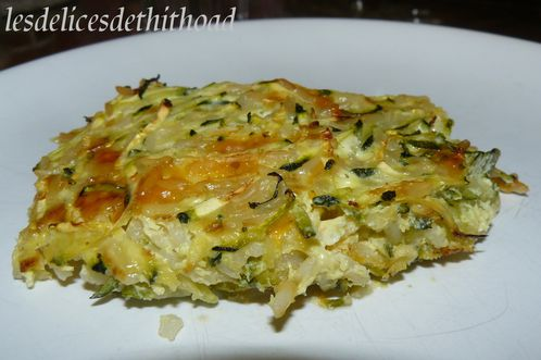 gratin de courgettes riz et mimolette le blog de lesdelicesdethithoad. Black Bedroom Furniture Sets. Home Design Ideas