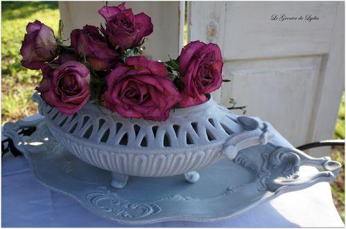 jardinière et plat patinés (2)