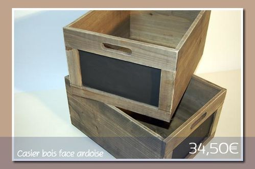 casier de rangement bois et face avant ardoise graine de. Black Bedroom Furniture Sets. Home Design Ideas