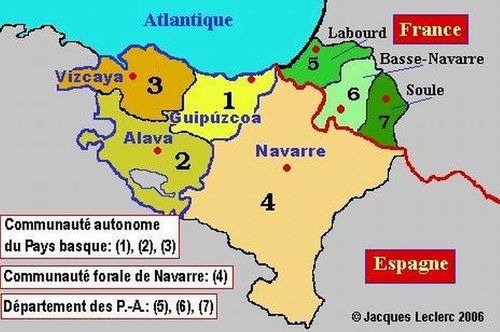 Les provinces basques