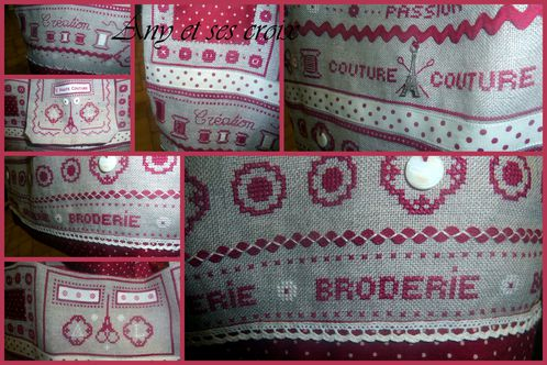 Sac broderie couture