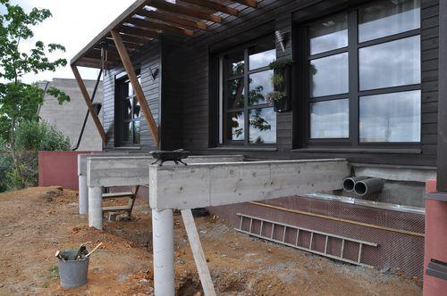 Une terrasse sur pilotis le blog de soso construction for Realiser une terrasse sur pilotis
