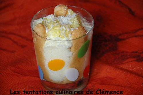 charlotte individuelle coco ananas rhum