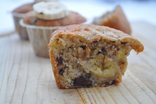 muffin moelleux banane