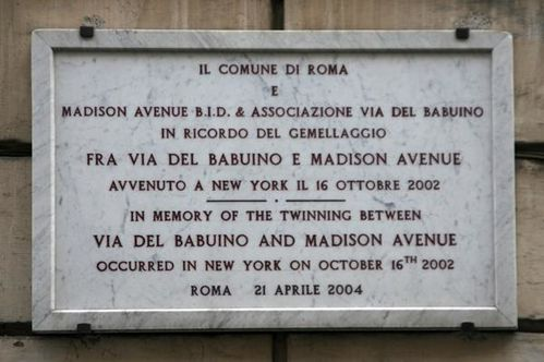 476a2 Rome, via del Babuino et New-York, Madison Avenue