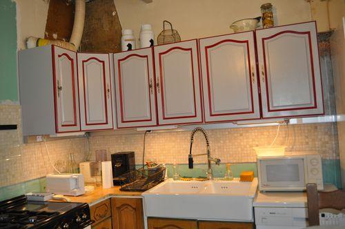Peinture de ma cuisine en ch ne au coeur de marie for Peinture pour meuble cuisine chene