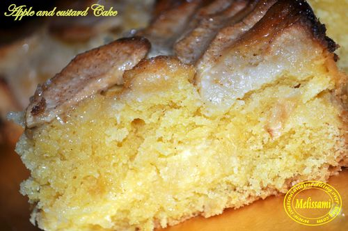 Apple and custard cake
