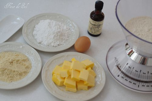 Ingredients pate sablee aux amandes
