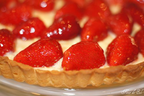 Strawberry tart with creme patissiere 3