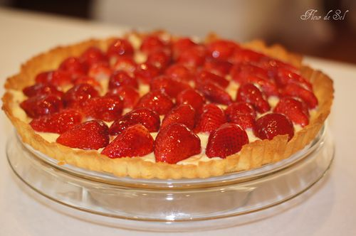 Strawberry tart with creme patissiere