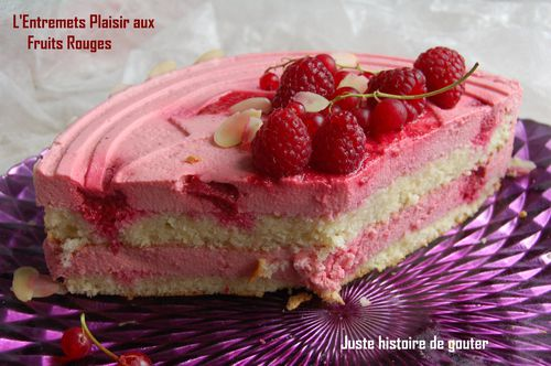 entremets plair fruits rouges