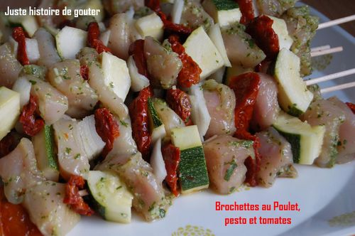 brochetttes pesto