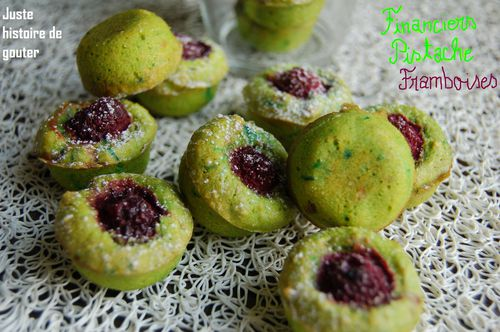 mini financiers pistache framboises