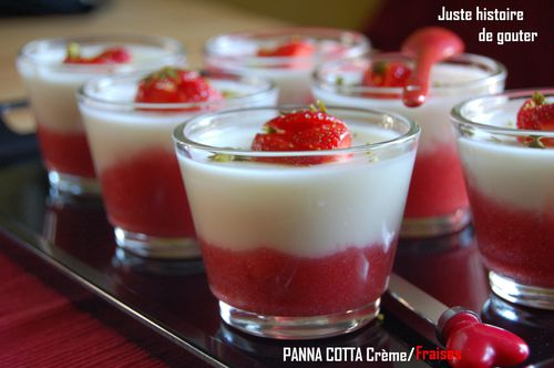 panna cotta fraises