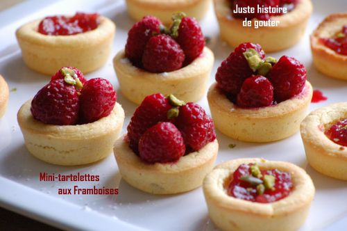 mini tartelettes friandes aux framboises juste histoire de gouter. Black Bedroom Furniture Sets. Home Design Ideas