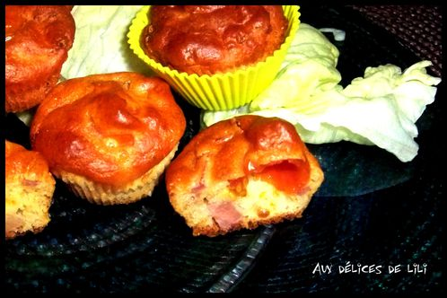 muffins tomate, bacon, parmesan