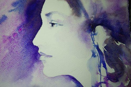Aquarelle portrait étude