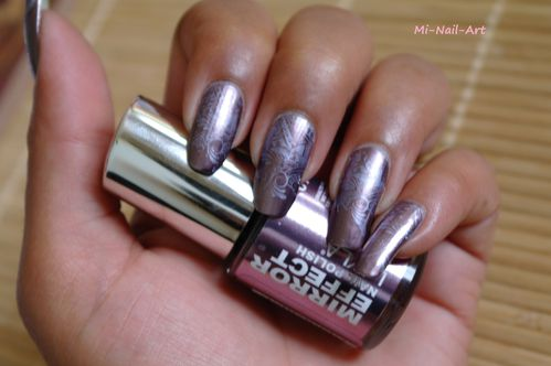 Stamping chrome sur Layla Mirror Effect 2