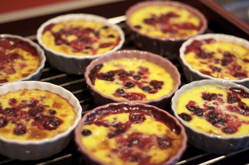 clafoutis fruits rouges