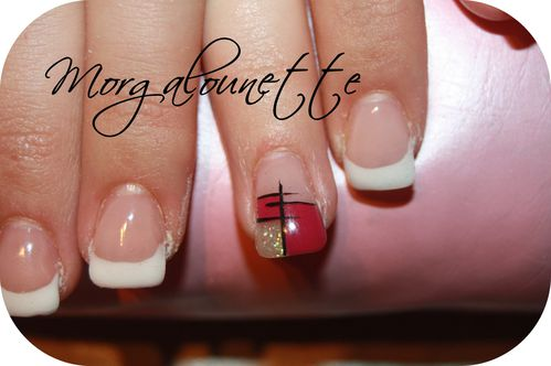 pose gel nail art graphique Morgalounette (2)