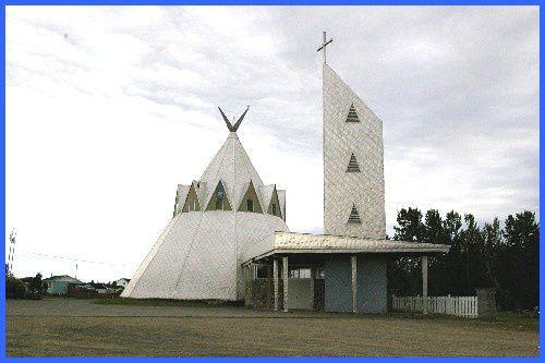 Eglise sur la réserve Micmacs