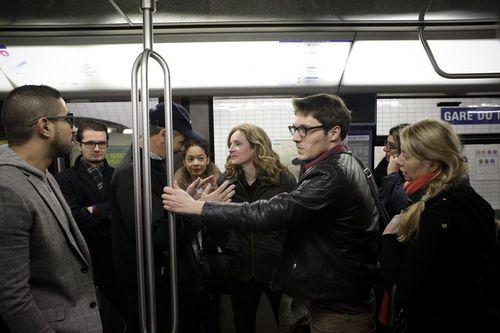nkm dans une rame de metro