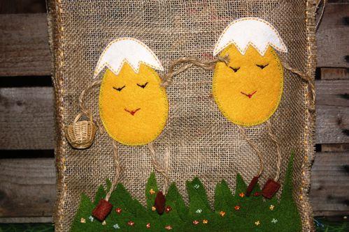 sac rustique en jute pour les oeufs de Päques (7)