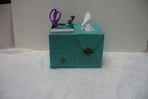 cartonnage boîte à mouchoirs de bureau