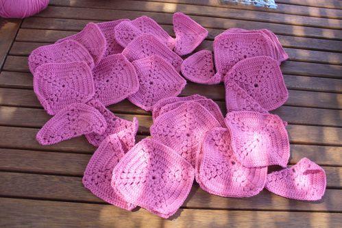 chèche pure laine rose