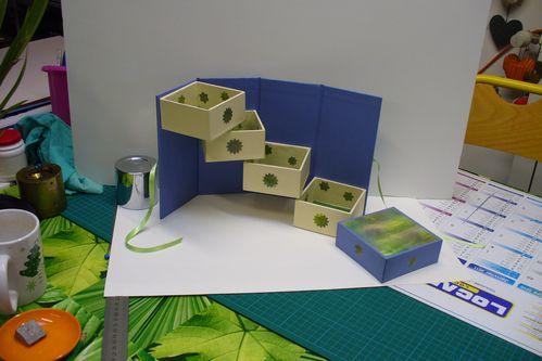 cartonnage boîte échelle