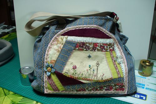 sac en crazy patch brodé