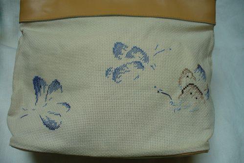 M.T de saint aubin sac brodé papillons