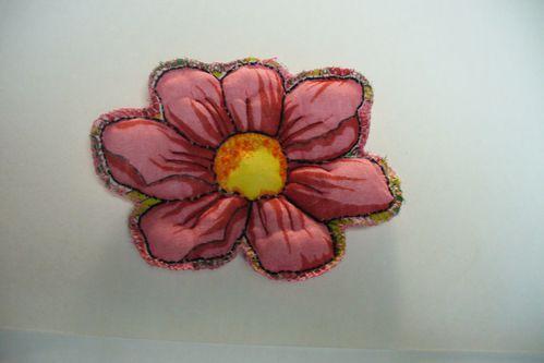 fleur de la boîte recouverte de tissu