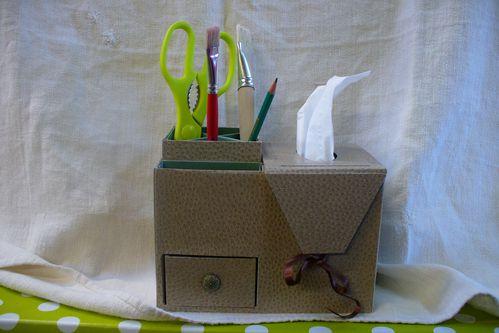boîte à mouchoirs de bureau d'Annie