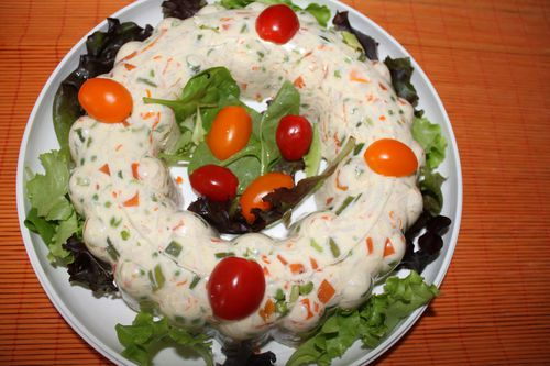 Couronne macedoine surimi bienvenue for Entree facile ete